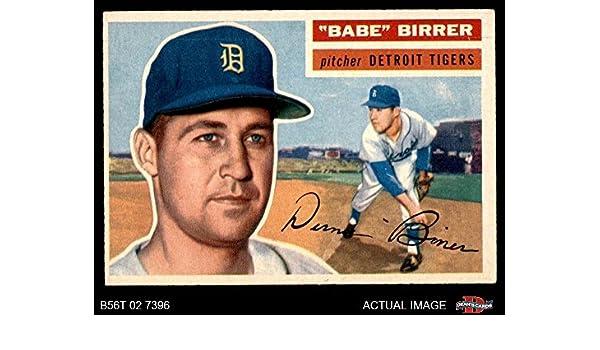 Amazoncom 1956 Topps 84 Babe Birrer Detroit Tigers
