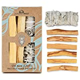California White Sage Smudge Stick and Premium Palo Santo Sticks: Smudge Kit for Cleansing, Smudging, and Protection