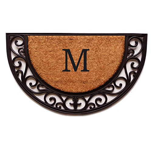 Home & More 100141830M Plantation Arch Monogram Doormat 18