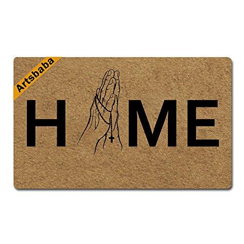 Artsbaba Home Doormat Christian Door Mat Rubber Non-Slip Entrance Rug Floor Door Mat Funny Home Decor Indoor Mats 30 x40 Inches by Artsbaba