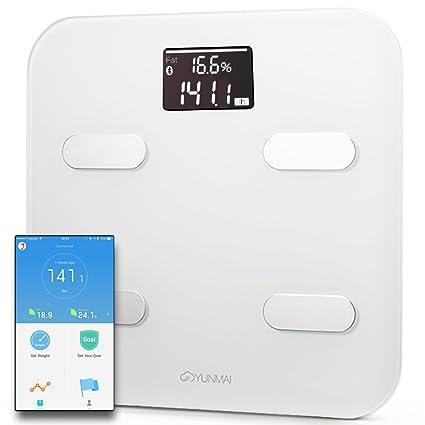 yunmai Color Index Báscula de análisis corporal – Peso & BMI Cuerpo y análisis + Bmr