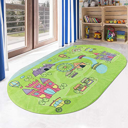 LIVEBOX Play Mat, Faux Wool Kids Play Area Rugs 3' x 5' Non-Slip Childrens Carpet Colorful Playground Educational Learning & Game for Living Room Bedroom Playroom Nursery 2019 Best Shower Gift
