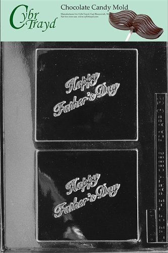 Cybrtrayd Life of the Party G032 Happy Father's Day Dad Greeting Card Chocolate Candy Mold in Sealed Protective Poly Bag Imprinted with Copyrighted Cybrtrayd Molding Instructions -