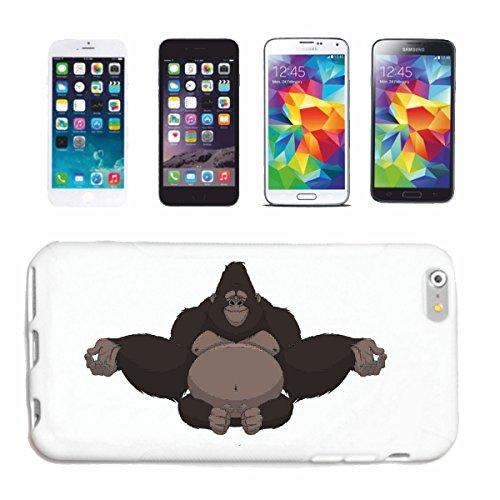 caja del teléfono iPhone 7S INOCENTE GORILA MONO Chimpancé del GORILA posterior de la plata APE CHARLY MONKEY KING KONG Caso duro de la cubierta Teléfono Cubiertas cubierta para el Apple iPhone en b