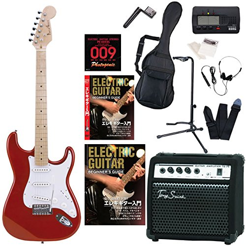 Photogenic エレキギター 初心者 STタイプ ST180 Tony Smith TG-75 15Wアンプ 入門15点セット 教則DVD付属 (M/MRD) B01DU12VCK M/MRD M/MRD