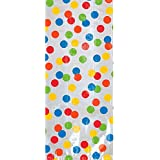 """Fun Rainbow Birthday Party Cello Bags , Pack of 20, Multi , 9 1/2""""H x 4""""W x 2 1/4""""D, Plastic"""