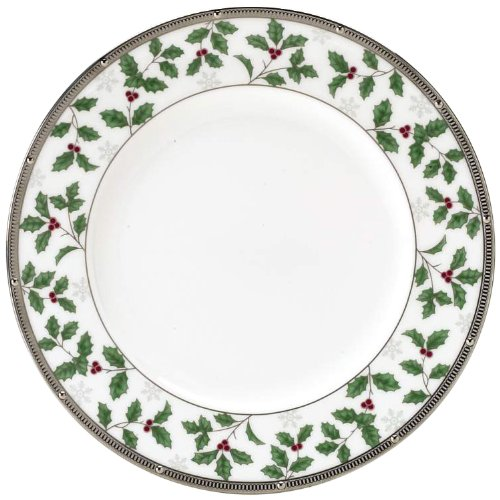 - Noritake Rochelle Holiday Accent Plate, 9-Inch, Platinum