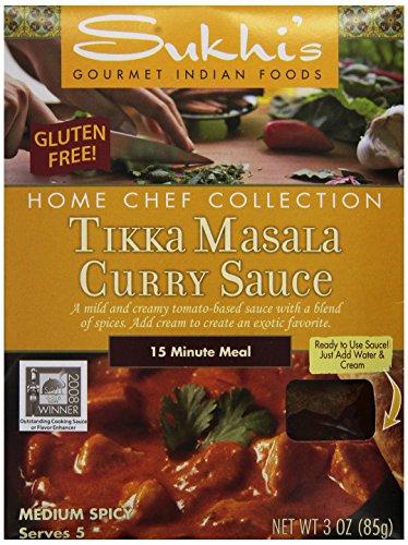 Sukhi's Gluten-Free Tikka Masala Sauce, 3-Ounce Packets  (Pack of 6)