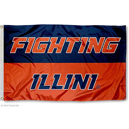 Illinois Fighting Illini Large 3x5 College Flag