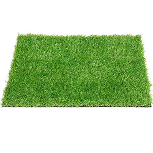 QYH Artificial Grass Doormat Indoor/Outdoor Green Lawn Rug Pet Turf for Dogs Pee Pad Synthetic Grass Door Mat Fake Grass Carpet for Entrance Way (18