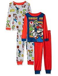 429a808850 Super Mario Brothers - Juego de 4 Pijama de algodón para niño