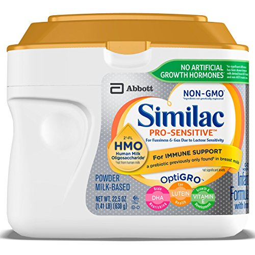 Similac Pro-Sensitive Non-GMO Infant Formula with Iron, with 2'-FL HMO, for Immune Support, Baby Formula, Powder, 22.5 oz