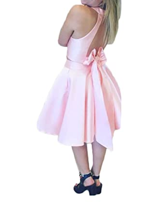 Z Sexy Open Back 2 Piece Satin Homecoming Prom Dresses Short Evening Dresses Party Gowns for Women at Amazon Womens Clothing store: