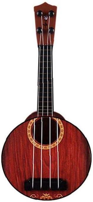 OMMO LEBEINDR Forma Simulación Ukulele Redonda Guitarra De ...