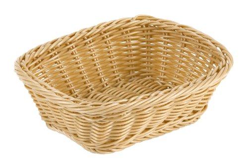 Paderno World Cuisine 9-Inch by 7-1/2-Inch Rectangular Polyrattan Bread Basket