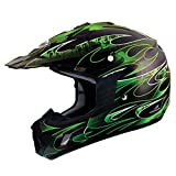 THH Helmets TX-12 Matte Black/Green 2X Helmet