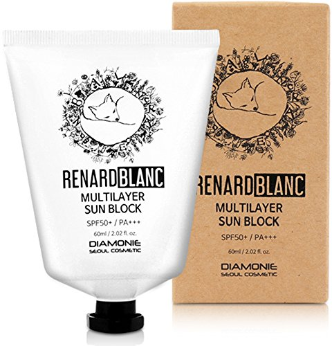 Complete Full Spectrum Sun Protection - RENARDBLANC MULTILAYER HYDRATING SUNBLOCK LOTION, Full-Spectrum UVB & UVA Protection - SPF 50+ / PA+++, Light sunscreen with no sticky or cakey finish. (60ml / 2.02 fl.oz.)