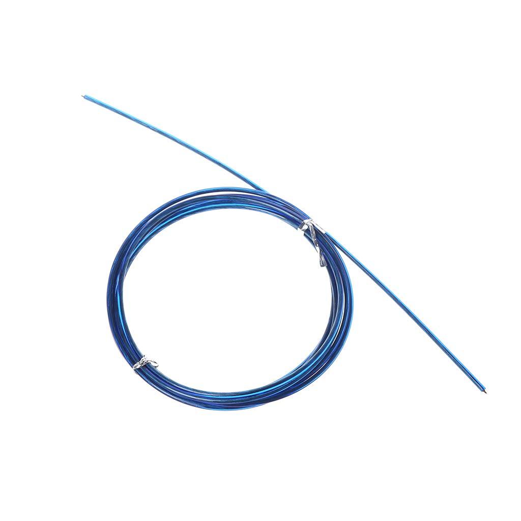 Dabixx Stahldrahtseil, 3m Crossfit austauschbare Stahldraht-Kabel-Geschwindigkeits-Sprungsseile, die Das Ersatz-Seil blau überspringen