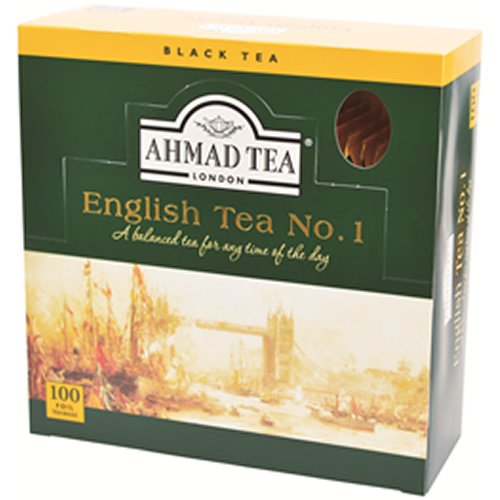 Ahmad Tea English Tea No.1 Enveloped Teabag, 100 Count