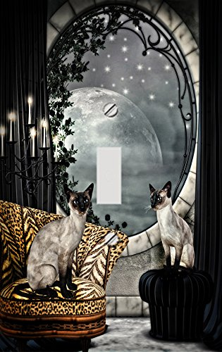 Siamese Cats Decorative Switchplate Cover (Siamese Cat Lamp)