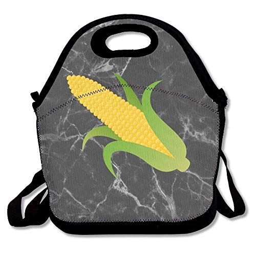 Ear Of Yellow Corn Decorative Lunch Bag Tote Portable With Adjustable Shoulder Strap
