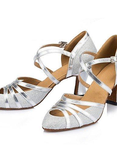 ShangYi Samba Frauen Sandalen funkelnden Glitter buckie Tanzschuhe (mehr Farben)  champagne-us8 / eu39 / uk6...