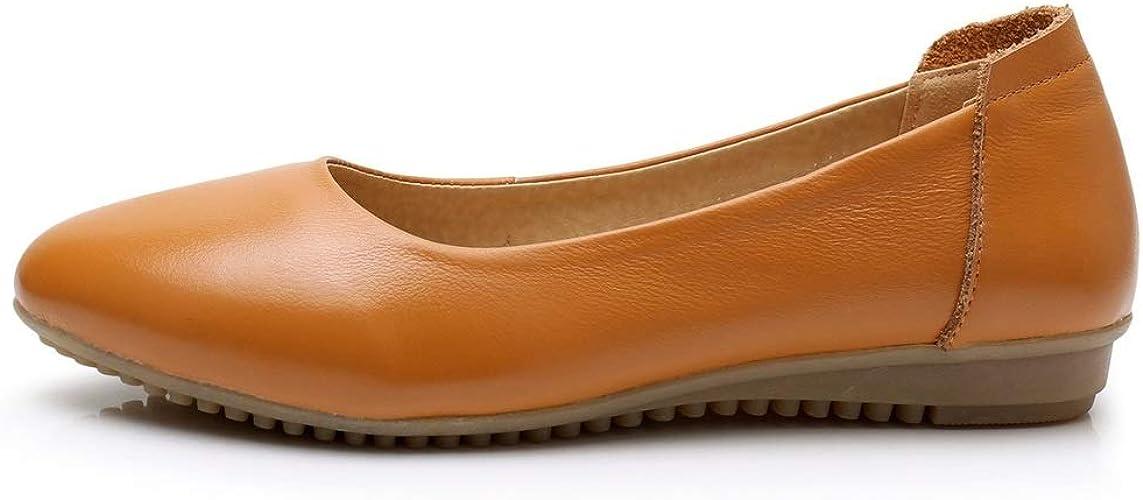 Lindarry Flats Mocasines para Mujer Punta Cerrada, Piel sint/ética, Color s/ólido, c/ómodos, Informales, Suela de Goma