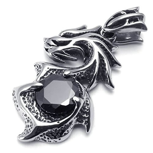 [Daesar Stainless Steel Necklaces Mens Pendant Necklace Black Dragon Claw 20 Inch] (Aztec Dancers Costumes)
