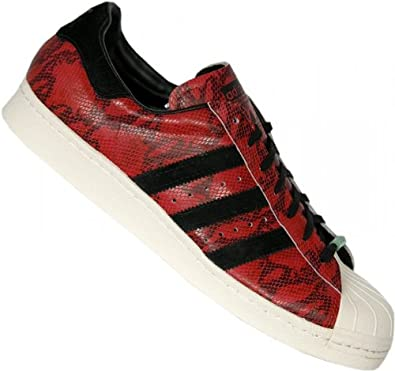 new york 93844 24b35 adidas Superstar 80s CNY, EU 40.5 Farbe Rot Schwarz Weiß