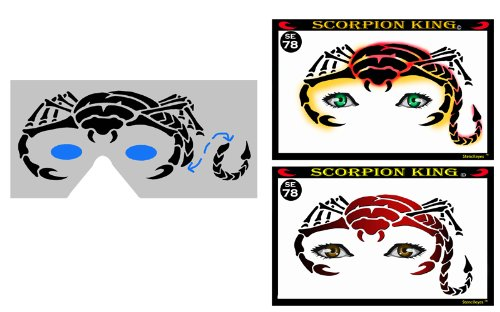 Face Painting Stencil - StencilEyes Scorpion King - Scorpion -