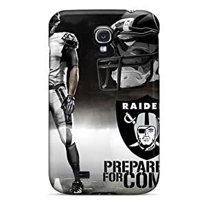 Shockproof Cell-phone Hard Covers For Samsung Galaxy S4 With Provide Private Custom Fashion Oakland Raiders Image VIVIENRowland