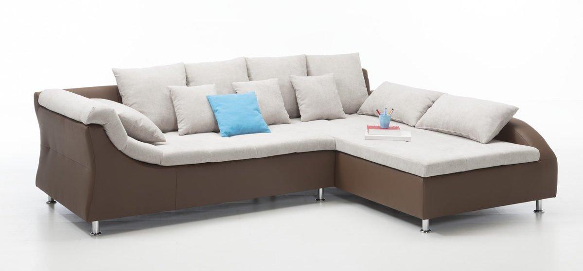 Polsterecke braun Sofa Garnitur Eckcouch Sitzecke günstig online kaufen