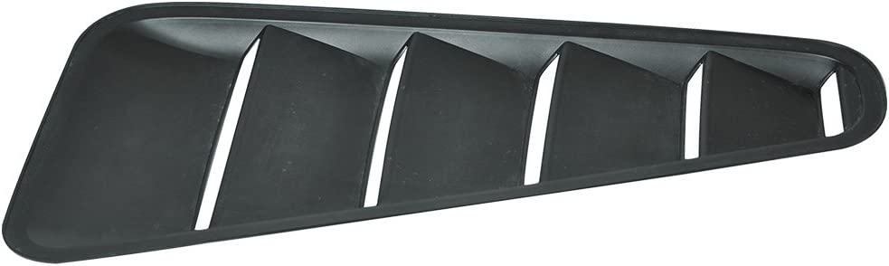 Factory Style Painted #UA Ebony PP Rear Quarter Bodykit by IKON MOTORSPORTS ?2011 2012 2013 Pre-Painted Window Louver Compatible With 2010-2014 Ford Mustang