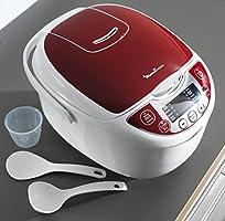 Moulinex MK705110 - Olla eléctrica, 75 W, 5 L, color blanco y rojo: Amazon.es: Hogar