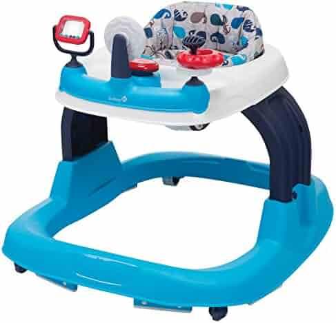 Safety 1st Ready, Set, Walk! 2.0 Developmental Baby Walker with Activity Tray (Nantucket 2)
