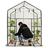 """Quictent Greenhouse Mini Walk-In 3 tiers 6 shelves 102lbs Max Weight Capacity Portable Plastic Garden Outdoor Green House 56""""x29""""x77"""""""