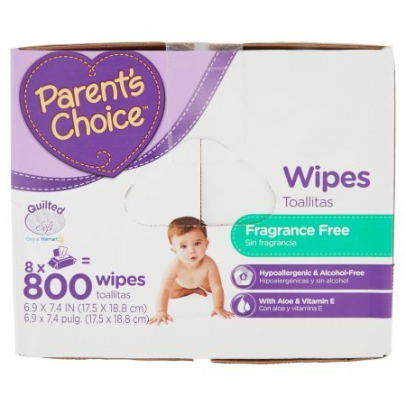 Amazon.com: Parents Choice Fragrance Free Baby Wipes | Contains Aloe and Vitamin E (800 sheets): Cell Phones & Accessories