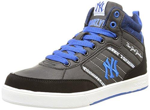 New York Yankees Vadim Mid, Jungen Hohe Sneakers Schwarz (105/black/imperial Blue)