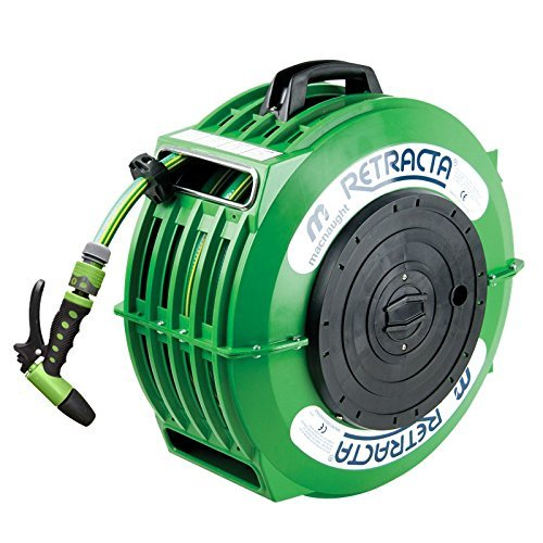 RETRACTA High Quality Domestic Garden Water Hose Reel - 1/2'' x 59'' - DR100