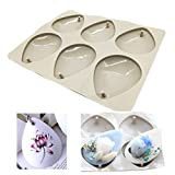 Silicone Wax Molds, KOOTIPS Diamond Resin Jewelry Molds Making with Hanging Hole for DIY Jewelry Craft Making (Drop of water)