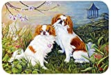 Caroline's Treasures MH1061LCB Japanese Chin Wasabi And Ginger Glass Cutting Board, Large, Multicolor
