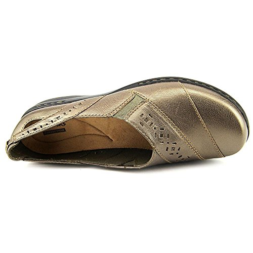 Slip Evianna Fig on Clarks PEWTER Shoes Women's HtqRawxC