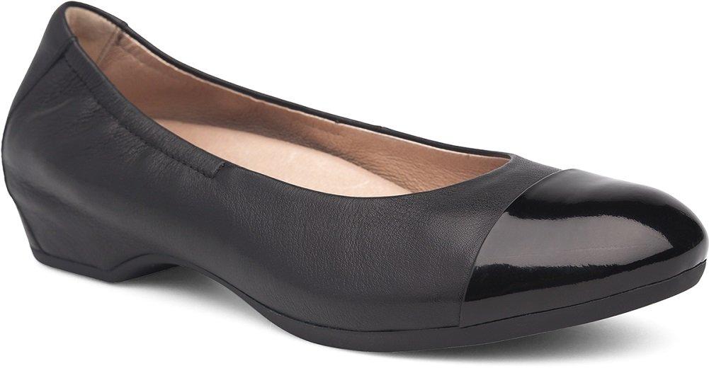 Dansko Women's Lisanne Flat Black/Black Milled Nappa Size 40 EU (9.5-10 M US Women)