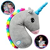 Unicorn Seat Belt Cover, Unicorn Seat Belt Pillow, Vehicle Shoulder Pads, Safety Belt Protector Cushion for Kids, Animal Travel Pillow