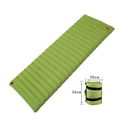 Sacos de dormir rectangulares Saco De Dormir Almohadilla Inflable Tienda Exterior Espesar Acampar Almohadilla Hidratante Almuerzo