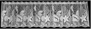 product image for Heritage Lace Seascape 60-Inch Wide by 14-Inch Drop Valance, White
