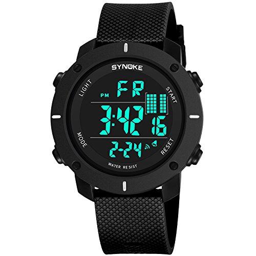 Mens Analog Digital LED 50M Waterproof Outdoor Sport Watch Military  Multifunction Casual Dual Display 12H24H Stopwatch Calendar Wrist Watch