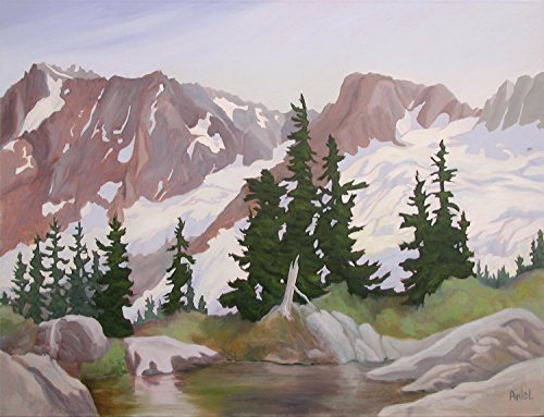 Original Oil Painting Alpine Landscape North Cascades Inspiration Traverse ()