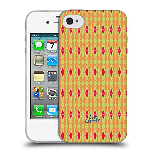 Official Cosmopolitan Silo Girl Aztec Brights Soft Gel Case for Apple iPhone 4 / 4S