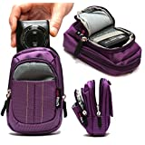 Navitech Purple Digital Camera Case Bag Cover For The Sony Alpha 5000 system camera (Full HD, 20 megapixels, Exmor APS-C HD CMOS sensor, 7.6 cm